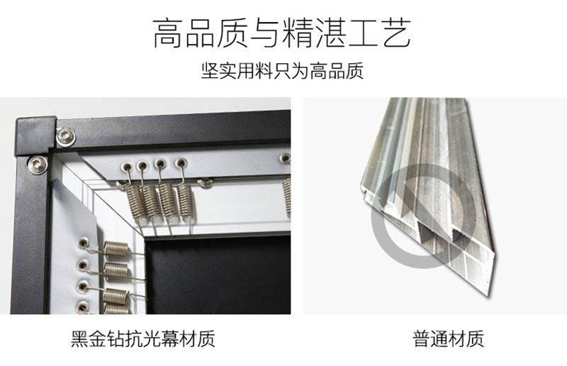 抗光幕布与普通材质对比